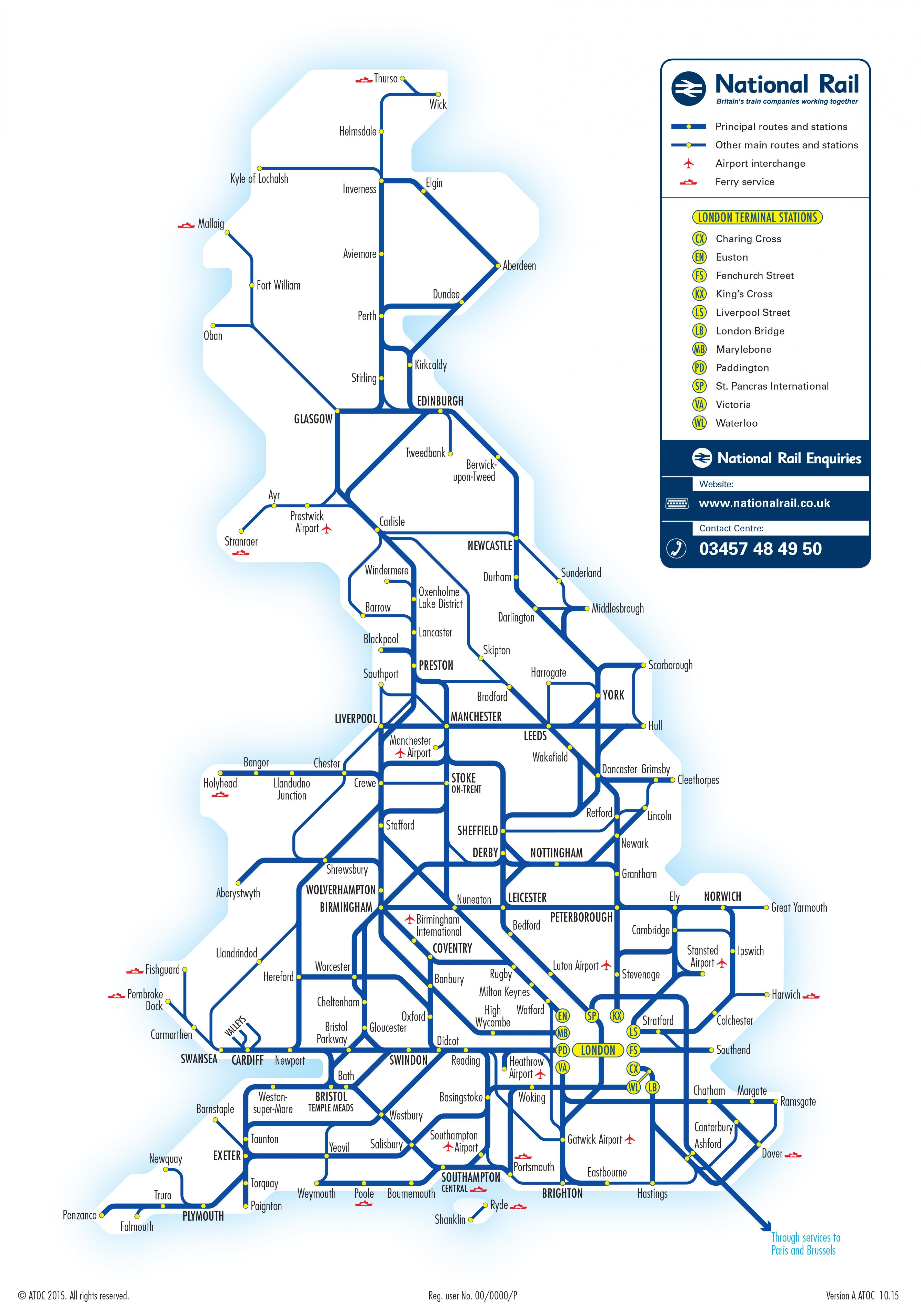 鉄道 路線 図 ヨーロッパ